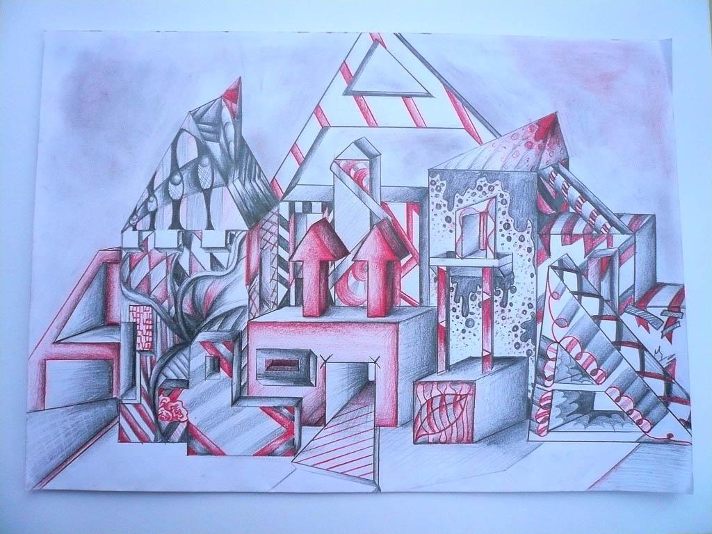 Zeichnungen sek ii experimentelles zeichnen perspektive fantastische architektur - Architektur zeichnen ...